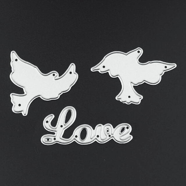 YLCD263 Peace Dove Metal Cutting Dies For Scrapbooking Stencils DIY Album Cards Decoration Embossing Folder Die Cutter Template