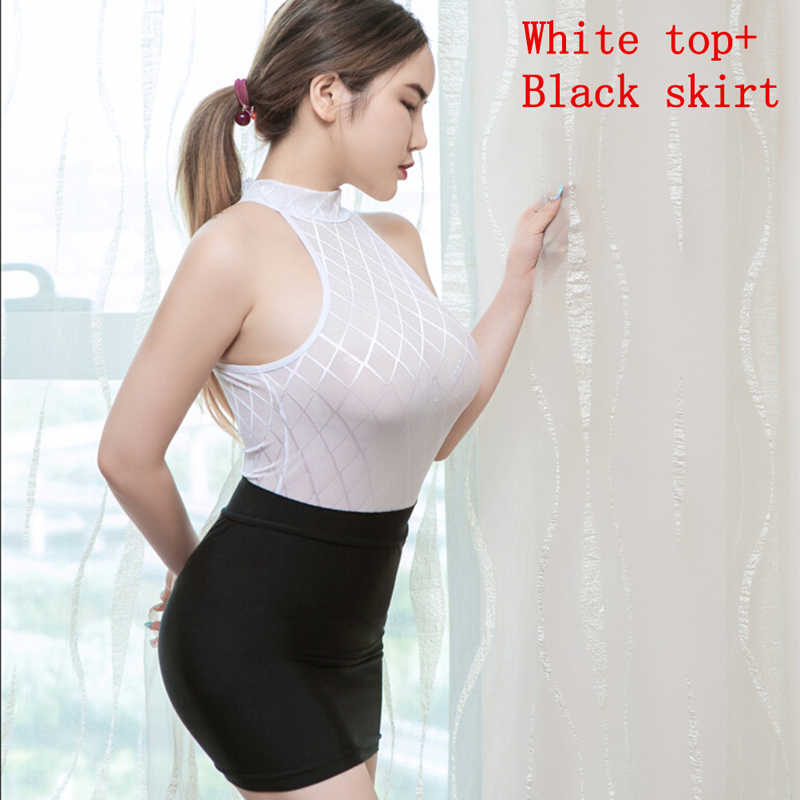 Señoras de algodón elástico vestido de las mujeres Sexy Club de verano + vestido de blanco y negro Mini vestidos