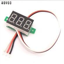 HOYOO Mini 0,36 дюймов DC 0-100 в 3 бита цифровой Красный светодиодный дисплей Панель измеритель напряжения вольтметр тестер