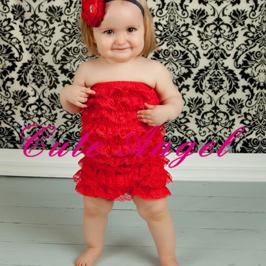 High Quality Fashion Lovely Child Lace Top Jumpsuit Cute Baby Girls
