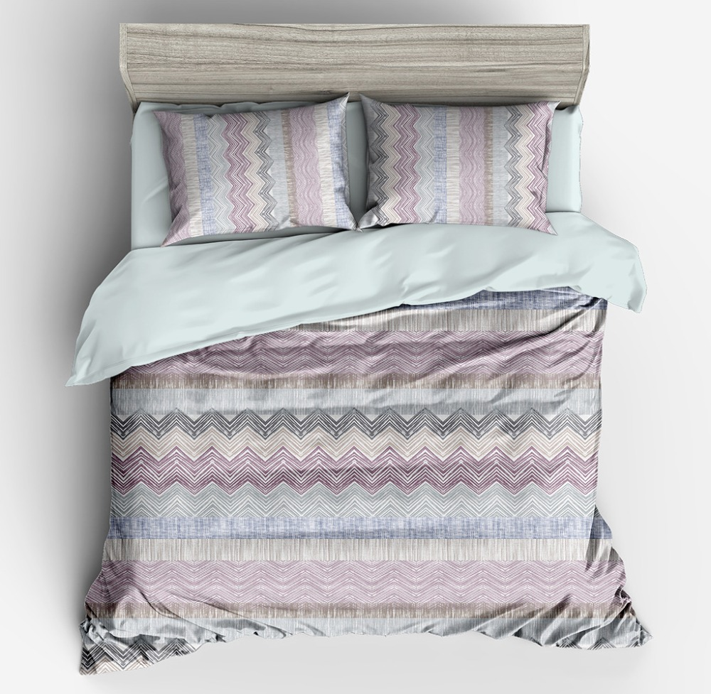 Nordic Style Simple Waves Bedding Set Soft Home Textile Duvet Cover Set for Adults Bed Nordic Style Simple Waves Bedding Set Soft Home Textile Duvet Cover Set for Adults Bed