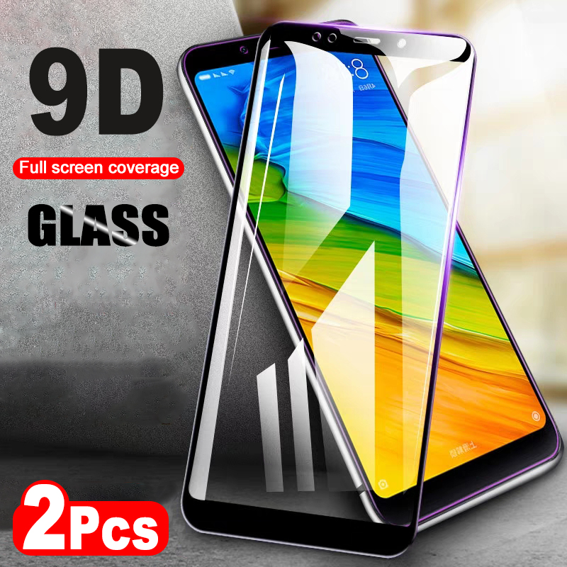2Pcs/lot Glass For Redmi Note 5 Pro Redmi 5 Plus Tempered Glass Screen Protector For Redmi 5 5A 6 6A Note 5A Glass Full Cover