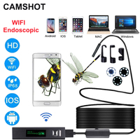 CAMSHOT Wifi Hd 1200p Endoscope Camera For Ios Android Phone Waterproofing 8mm Hardwire USB Micro Borescope