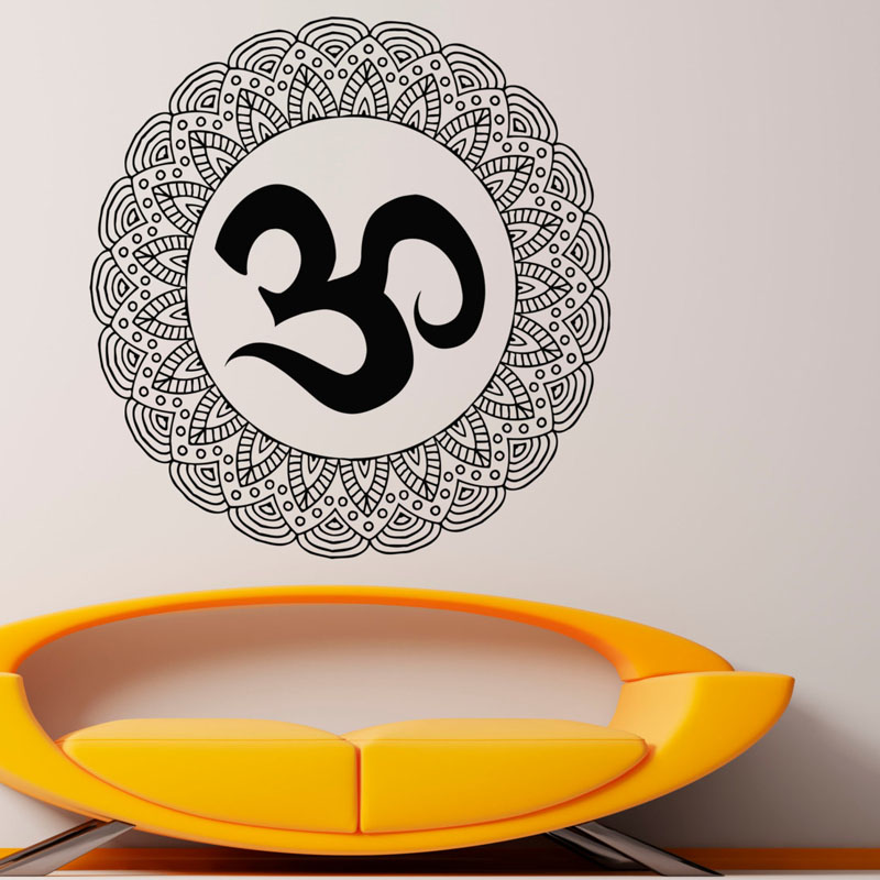 Mandalas Flower Wall Stickers For Decoration Vinyl Art Wall Decal Sticker Home Decor Indian Lotus Waterproof
