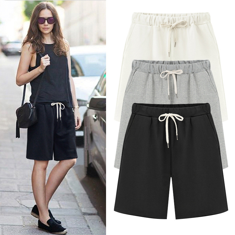 2019 Summer Women   Short   Pants Loose Cotton Pants Large Size 6XL Women Casual Pants Ladies   shorts