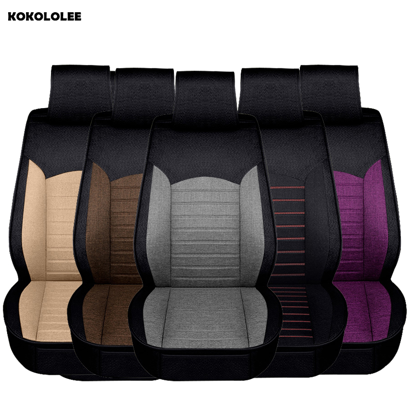 KOKOLOLEE flax Auto Universal Car Seat Covers Automotive Seat Covers for toyota lada kalina granta priora renault logan cover