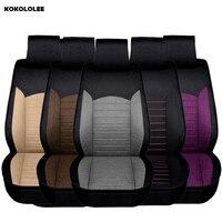 KOKOLOLEE Flax Auto Universal Car Seat Covers Automotive Seat Covers For Toyota Lada Kalina Granta Priora