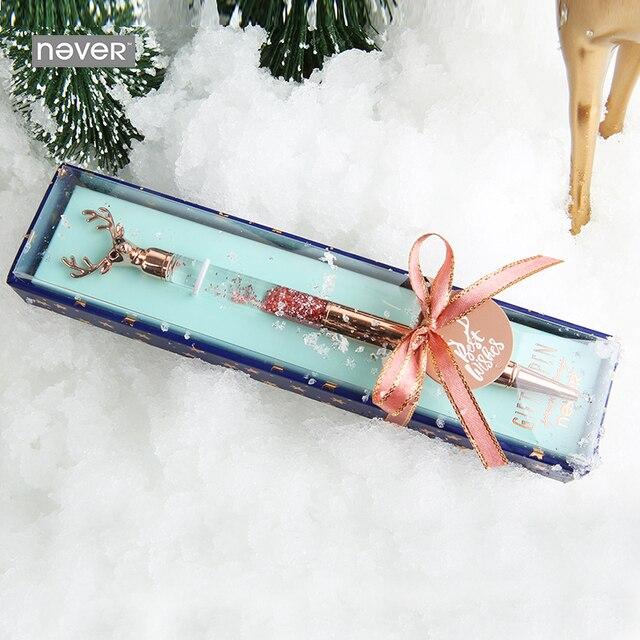 Никогда не Рождество серии голова оленя шариковая ручка в форме цветка ручки мм 0,7 мм роскошные розовое золото 2019 подарок канцелярские школы и офиса