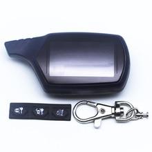 ロシア語版 B9 ケースキーホルダースターライン B9 B6 A91 A61 lcd リモコン 2 ウェイ車の警報システム