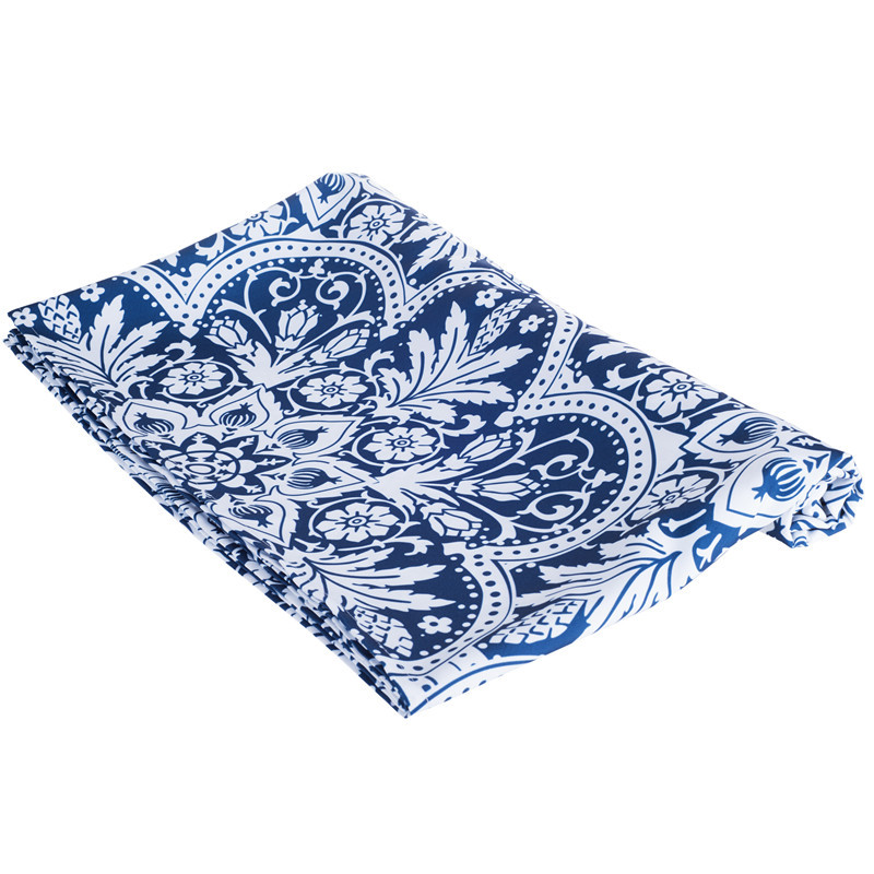 Blue and White Mediterranean Style Tablecloths Plant Pritted for Restaurant Home Outdoor ...