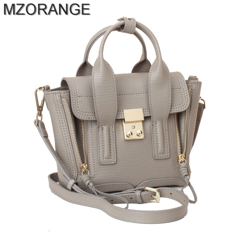 MZORANGE 2017 Pashli Satchel with Strap Mini monster cute shoulder bag genuine leather handbag famous designers