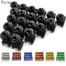 20 pieces Motorcycle Fairing Body Spring Bolts Nuts Spire Speed Fastener Clips Screw Scooters For Honda Yamaha Kawasaki Suzuki