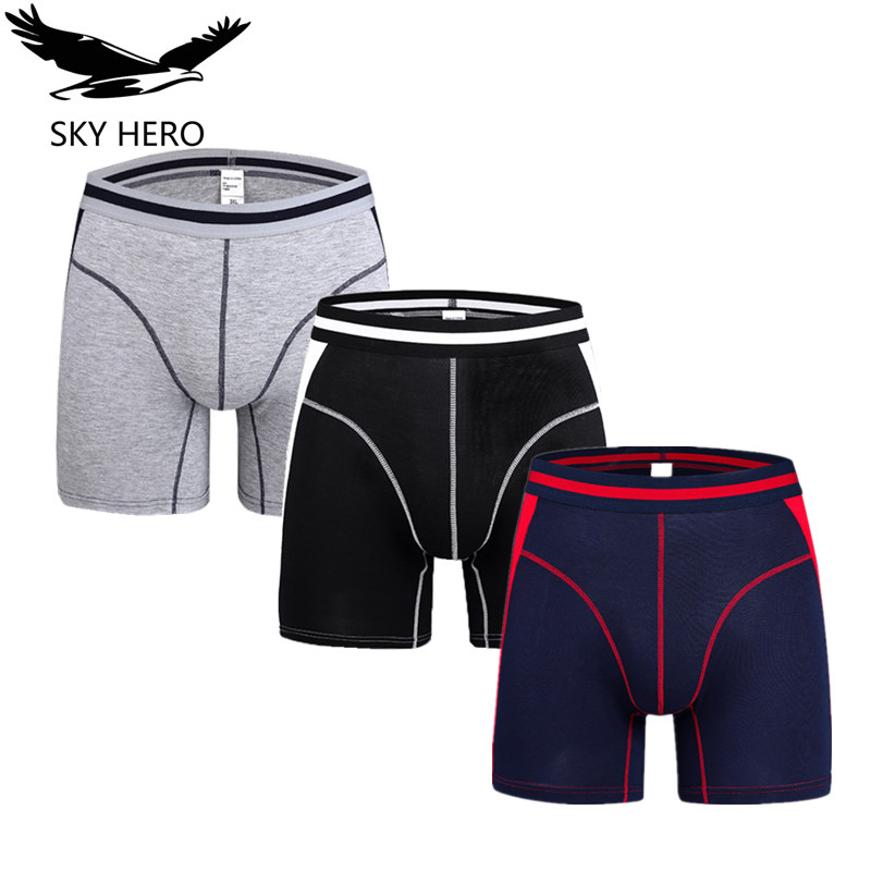 3pcs/lot Fashion underwear men boxer shorts mens boxers slip homme calzoncillos man bamboo modal loose calecon pour homme NKD