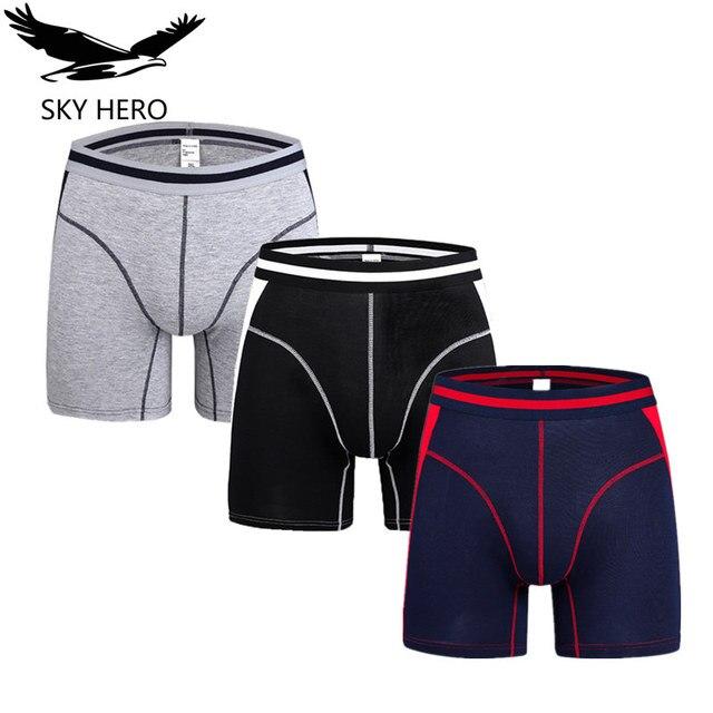 3pcs/lot Fashion underwear men boxer shorts mens boxers slip homme calzoncillos man bamboo modal loose calecon pour homme NKD