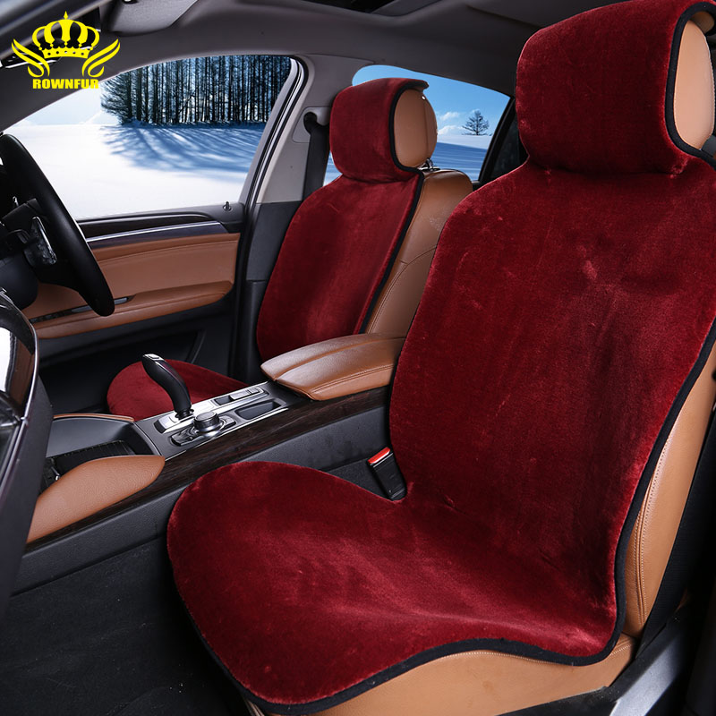Lj1PC FAUX FUR CAR CAR SEAT COVERS FOR FRONT SEAT 3