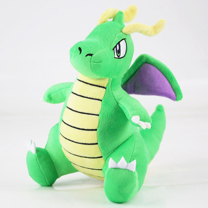 19cm Dragonite Cute Animal Green Dragon Plush Cartoon Doll Toy Lovely Soft Stuffed For Kids Gift