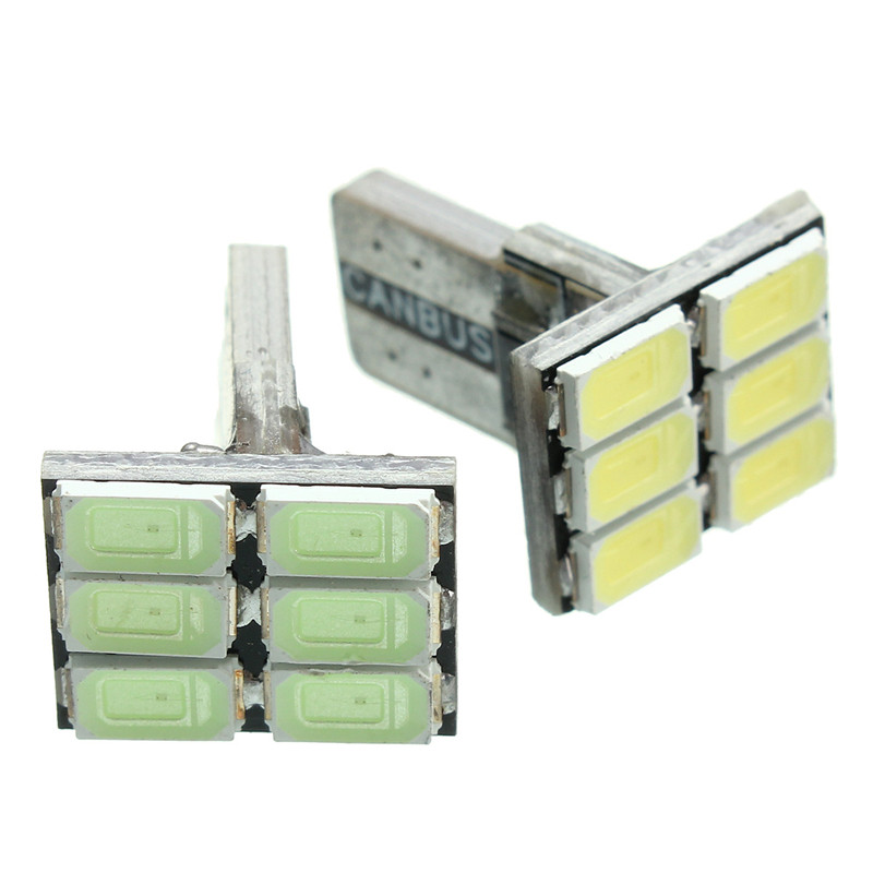 DC12V T10 2.2W 5730 6 SMD 120LM  6500K Canbus Error LED180 Degree LED Auto Car Side Wedge Light Lamp Bulb Car Light Sourse runail гель лак обожаю вечеринки 3363