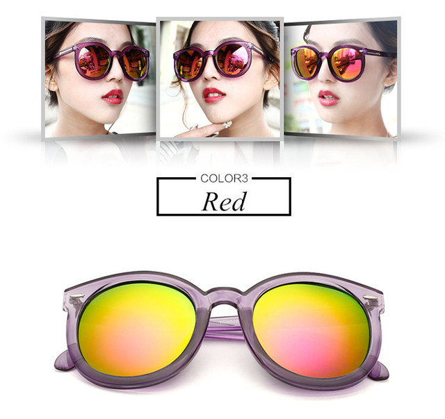 Fashion multicolour Mirror glasses Vintage