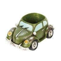Retro car forma vasi di fiori bonsai decorazioni per la casa red army green colore del caffè Roogo Roogohome negozio