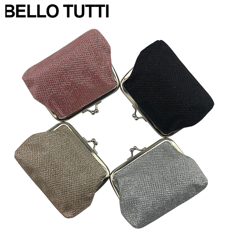 BELLO TUTTI Small Coin Purse Women's Purse Polyester Wallet Female Pouch Coin Wallet Card Holder Mini Clutch Money Bag