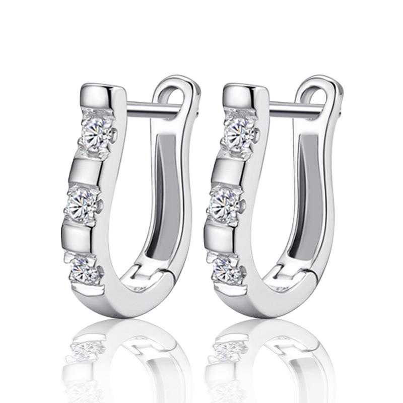 Hot Fashion Jewelery U-earrings Beautiful Earrings Crystal Earrings Women Girls Party Wedding Jews New Product Launch