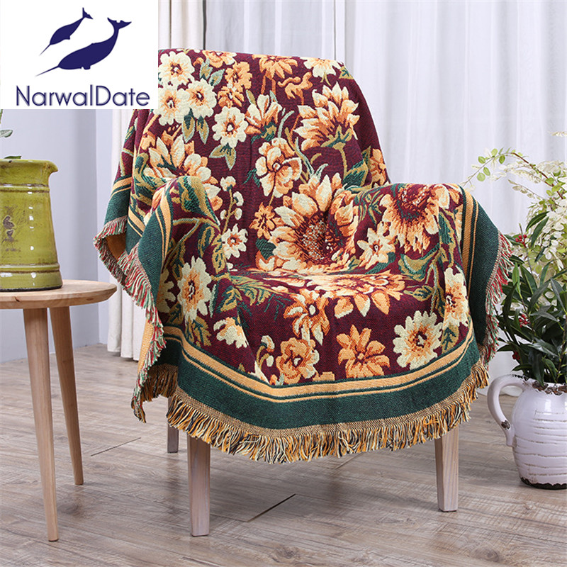 Floral Three Layers Blanket Slipcover Throws on Sofa/Bed/Plane Travel Blankets Color Stitching Blankets Tatami Mats  american lattice blanket sofa decorative slipcover throws on sofa bed plane travel plaids rectangular color stitching blankets