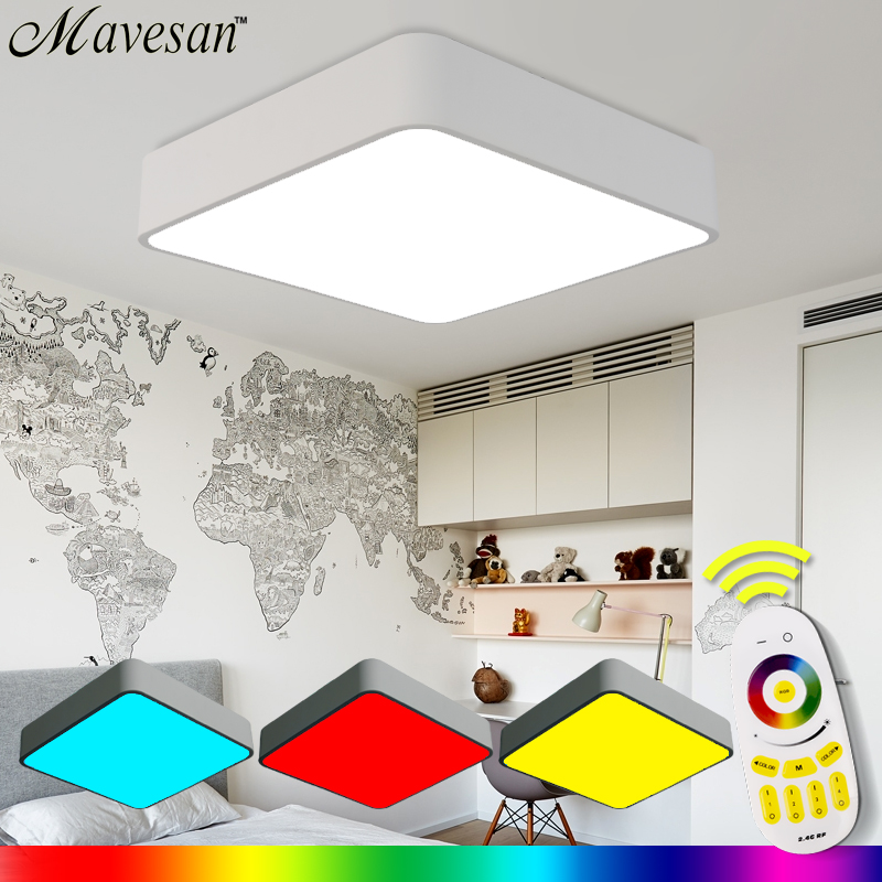 Hot Selling children room Remote RGB Ceiling Light with multicolor Smart LED Lamp shade Ceiling light for living room
