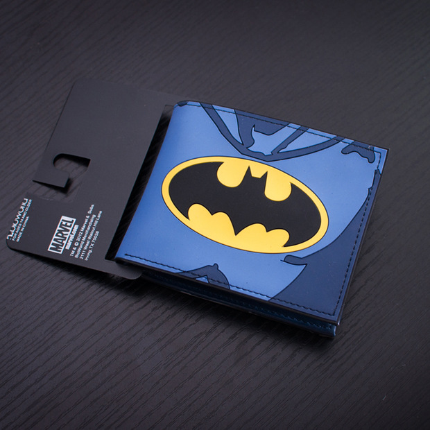Comics Anime Leather Wallets PVC Waterproof Purse Batman Animation Cartoon Bags Fashion Casual Monederos Men Wallet Billeteras