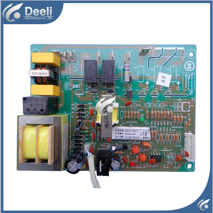 95% new good working for air conditioner computer board motherboard ZKFR-75W/3 3P condition plate control board slae used good condition la255 3 with free dhl