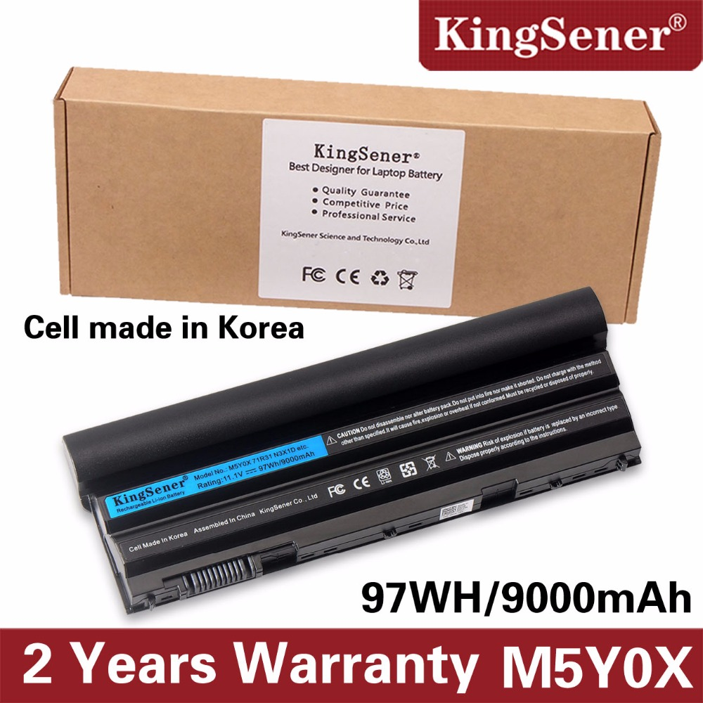 KingSener 11.1V 97WH Korea Cell M5Y0X Laptop մարտկոց DELL Latitude E6420 E6520 E5420 E5520 E6430 71R31 NHXVW T54FJ 9CELL
