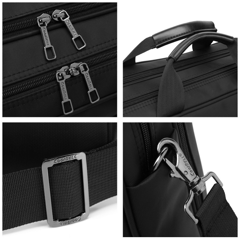 Image 3 - Coolbell Laptop Bag 15.6/15 Inch For Macbook Pro 15 Case Notebook Bag Laptop Messenger Sling Bag Laptop Briefcase-in Laptop Bags & Cases from Computer & Office