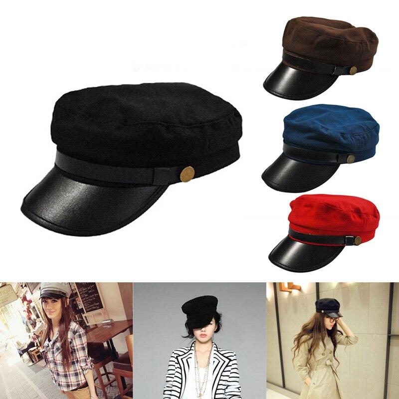 Men Women Casual Cap Flat Top Vintage Simple Chic Breathable Hat TT@88