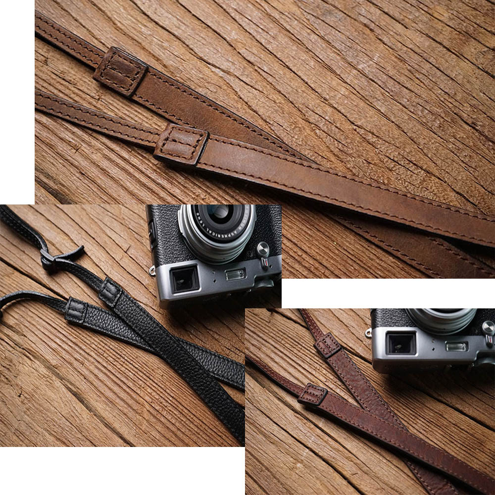 adjustable Mr.stone Handmade Genuine Leather Camera Strap Shoulder Sling Belt For Canon Nikon Sony FUJI Fujifilm Leica Pentax