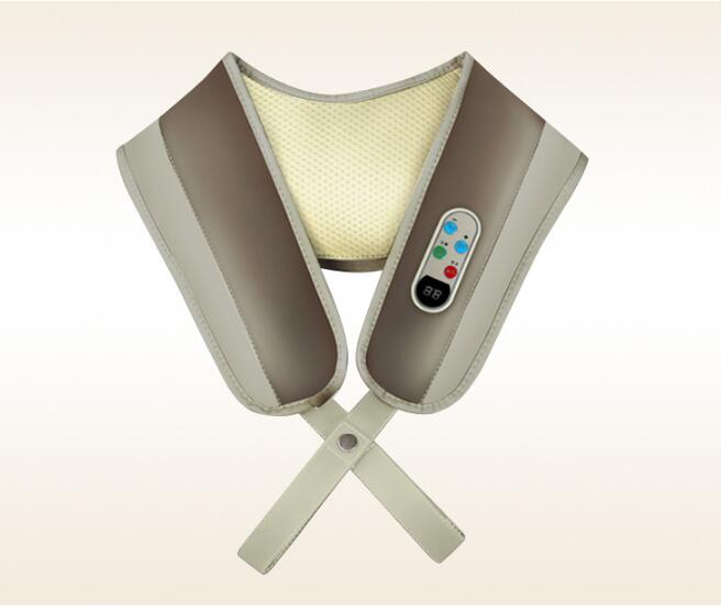 Knock massage shawl kneading massager apparatus shoulder massager neck back massage instrument gift for parents home health care instrument chinese body massage device neck massager red light heating kneading massage shawl 120804