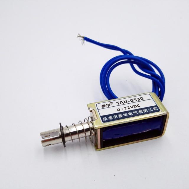 DC 6 в 12 В 24 В тянуть тип рамочный Электромагнит Тау-0530 линейный соленоид магнит Путешествия 10 мм keepping силы 700 г