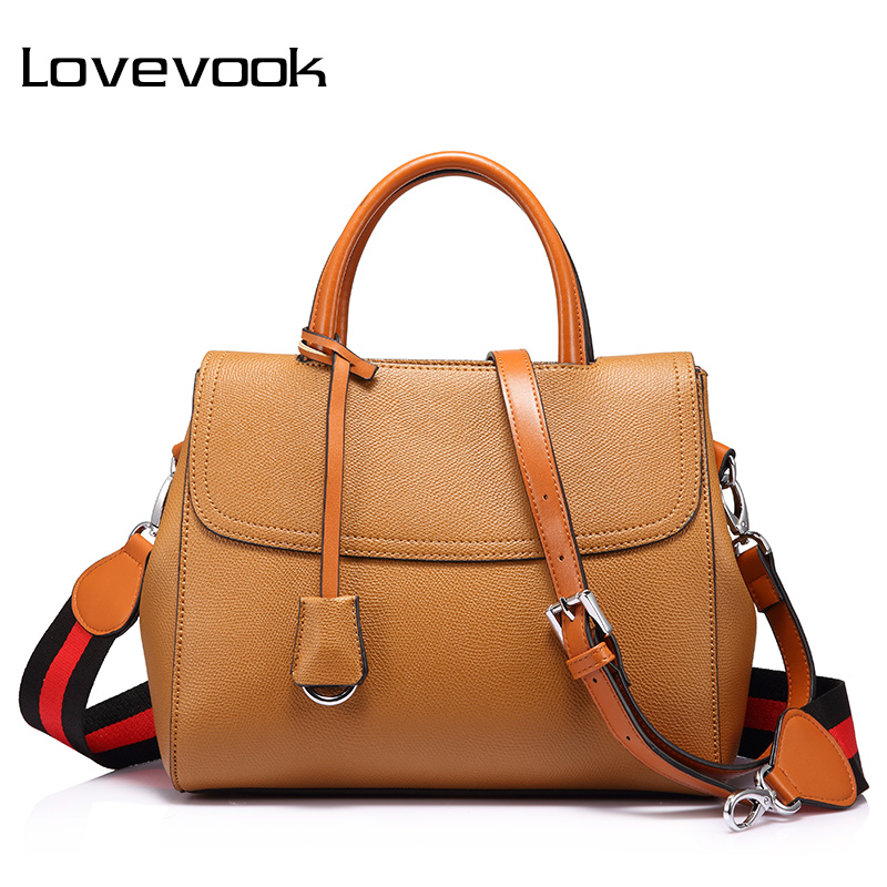 LOVEVOOK women handbag with striped wide strap shoulder crossbody bag female  top handle tote messenger bags handbag for girls-in Top-Handle Bags from ... 7fba32477f
