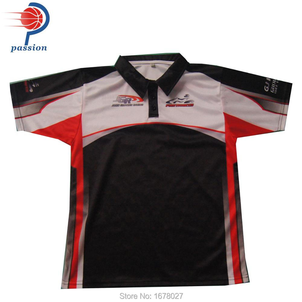 Wholesale Custom Sublimation Motorcycle Pit Crew Polo Shirts In