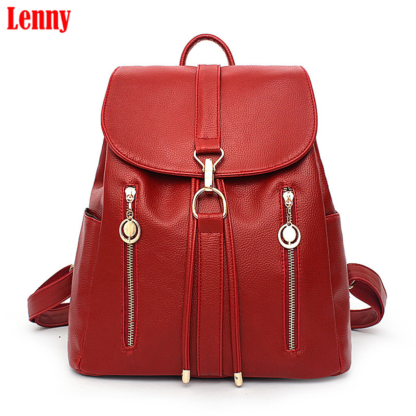 2017 New Style single shoulder b Korean Women Female Rucksack Leisure Student School bag Soft PU Leather Youth Women Bag  37wy new travel backpack korean women female rucksack leisure student school bag soft pu leather women bag