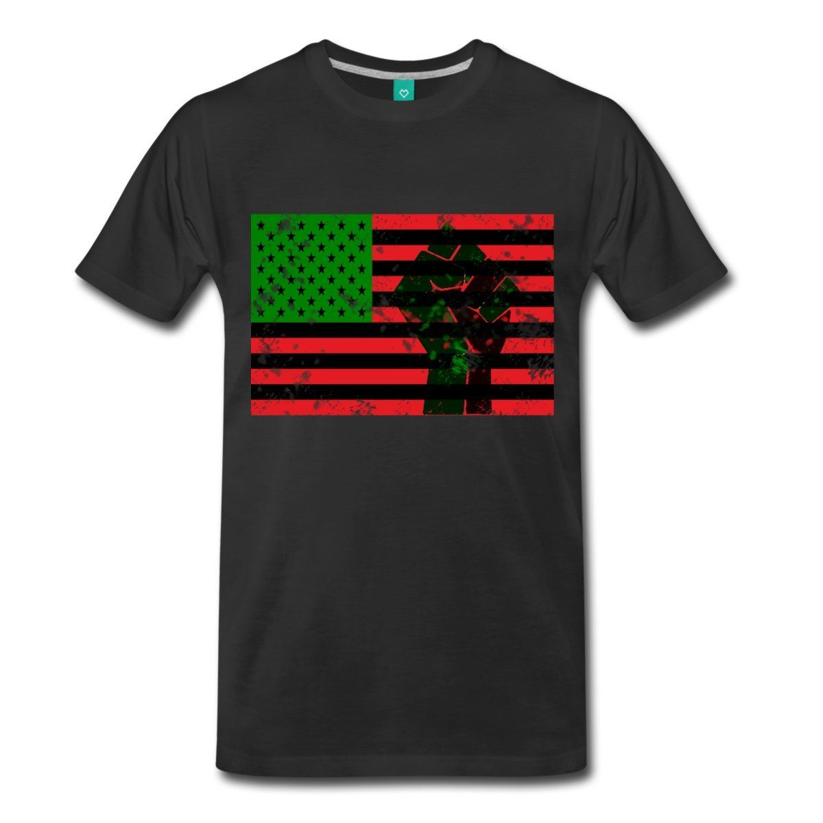 Pan African Flag With Fist Mens T-Shirt New Fashion Casual Cotton Short-Sleeve New Fashion T Shirt Graphic Letter