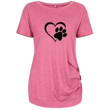 Heart & Paw 3-button women's blouse