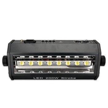 Gorąca sprzedaż światło stroboskopowe 8x25W 8P biały kolor mały rozmiar 3 pin DMX512 In/out gniazdo 200W wyświetlacz wentylator LCD chłodzenie dj światła stroboskopowe