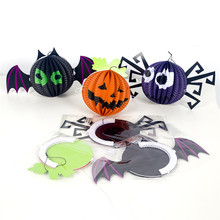 1pc Halloween Paper Lantern Decor Happy Night Chinese Pumpink Wish Bat Garden KTV Club Home Festival Party Supply