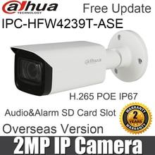 Dahua IPC HFW4239T ASE 2MP Bullet Network Camera WDR Full color Starlight Mini POE H.265 Audio&Alarm SD Card Slot IP Camera