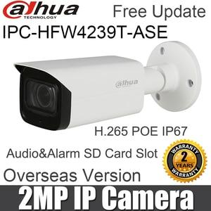 Image 1 - Dahua IPC HFW4239T ASE 2MP Bullet רשת מצלמה WDR מלא צבע אור כוכבים מיני POE H.265 אודיו מעורר SD כרטיס חריץ IP מצלמה