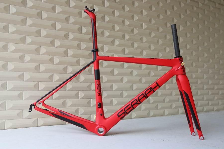 SERAPH Brand OEM Products,Chinese Super Light  Road Carbon Frame,Carbon Fiber Road Bike Frame,T1000 Bicycle Carbon Frame FM686