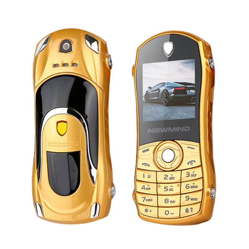 Newmind F3 Russian,Spanish Quad-band Bar Low Price Small Size Mini Supercar Car Key Model Cell Mobile Phone Cellphone P042