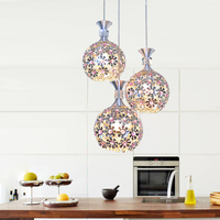 A1 Modern Minimalist Restaurant Pendant Lamps Meals Hollow Purple Single Head Three LED Hanging Lighting Creative