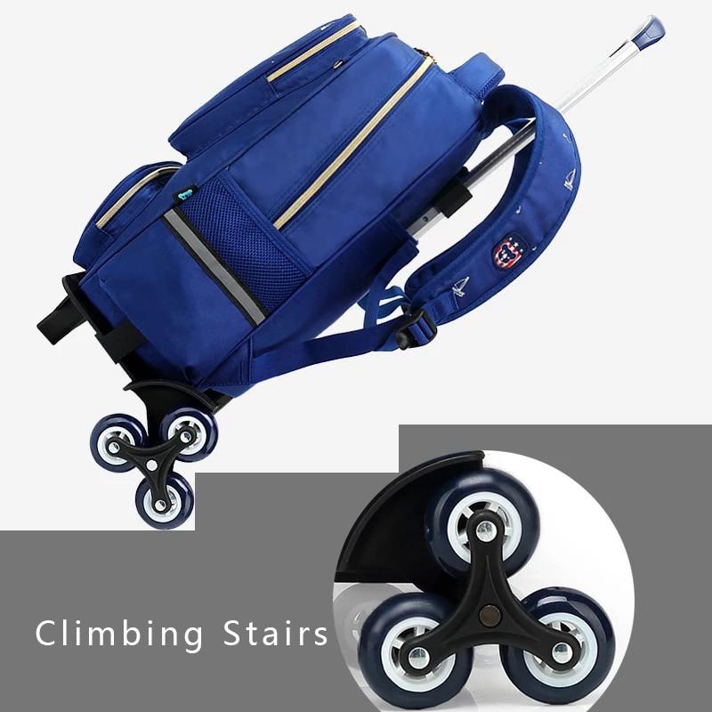 SUN EIGHT Wheeled Bag School Bag School Backpack For Girls/boy Six Wheels Trolley School Bags Kid Luggage Wheeled Backpack
