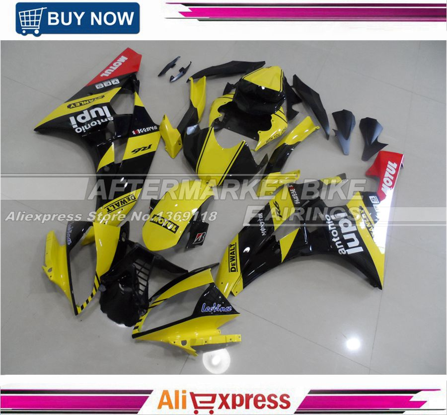 Free Shipping Injection Fairing Cover For Yamaha YZF R6 2006 2007 ABS Bodyworks Yellow & Black 06 07 for yamaha yzf 1000 r1 2004 2005 2006 motorbike seat cover motorcycle yellow fairing rear sear cowl cover free shipping