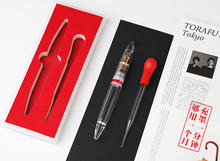 Moonman M2 Transparent Fountain Pen,Updated Lecai pen,EF NIb, Gift A 1.1MM Nib